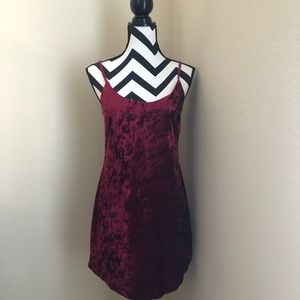 Forever 21 Crushed Velvet Slip Dress Size S/M